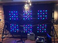 LEDJ backdrop, case and stand