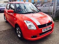 SUZUKI SWIFT 1.5 GLX PETROL MANUAL 5 DOORS KEYLESS ENTRY SERVICE HISTORY DRIVES NICE 70K