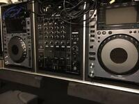 Pioneer CDJ 2000 Nexus x2 + DJM 900 Nexprice dropus bundle Gorilla Case Deck Savers lowered price