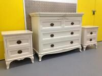 Laura Ashley Lillie French shabby chic chest of drawers & bedside cabinets John Lewis habitat loaf