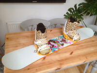 Womans Forum snowboard 146cm, boots and bindings.