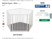 Baby playpen white