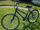 "Ladies/Girls Raleigh Mantis Mountain Bike, 19"" Frame, 18 Grip Shift Gears, Blue ~ VGC"