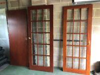 Internal glazed panel wooden doors