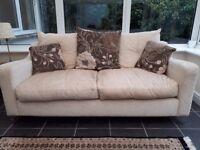 3 piece cream/beige sofa