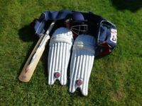 Cricket Equipment for sale. Used but excellent condition.