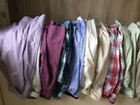Selection of Medium and small size shirts and jumpers