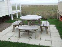 circular garden picnic seat