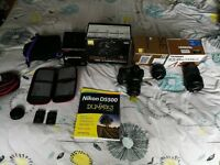 Nikon d5500 & 4 Lens bundle pack ! Ultimate start up package.