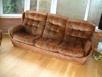 Large 3 Seater Sofa and Single Chair