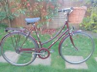 LADIES VINTAGE RALEIGH CAMEO 3 SPEED ROADSTER/TOWN BIKE LIKE PASHLEY.