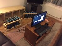 Ethereum Mining Rig 320 M/H 11X RX 480 Sapphire Nitro+ Available early April.