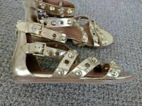 River Island gold gladiator sandals