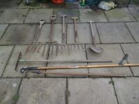 vintage garden tools - £5 each