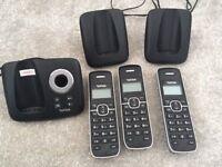 3 x Talk Talk Cordless Telephones