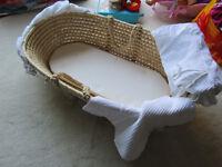 John Lewis Moses Basket (Hardly Used).
