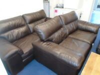 TWO LEATHER SOFAS at Haven Trust's charity shop at 247 Radford Road, NG7 5GU