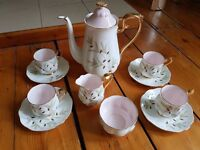 "Royal Albert ""Braemar"" china coffee set"