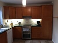 Solid Wood Kitchen for sale including Breakfast Bar, Sink and Worktop