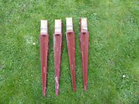 4x METPOSTS 50mm x 50mm x 450mm UNUSED