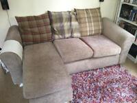 3 seater corner sofa in mink