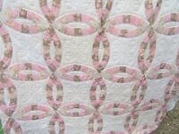 VINTAGE COUNTRY STYLE COTTON PATCHWORK DOUBLE BEDSPREAD