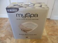 Bubble Bliss Foot Spa By HOMEDICS. Brand New.