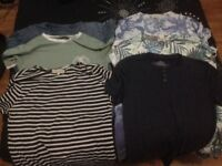 Xtra Small Mens clothing bundle (NEW) 6 T-shirts, 2 jeans, trainers & Jacket. H&M, River Island