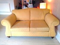 old fashion sofa with wooden legs fabric good condition