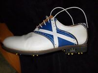 real leather hand made scotland golf shoe