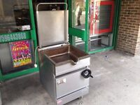 GAS BRAT PAN CATERING COMMERCIAL FAST FOOD RESTAURANT TAKE AWAY SHOP KITCHEN