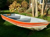 12ft Aluminium Fishing Boat with Evinrude 4.0 outboard motor