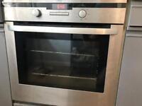 AEG single fan oven and hob