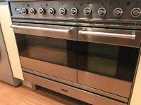 Brittania dual fuel range cooker