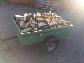 Trailer Loads Of Split Firewood (Logs)