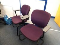Used Office Furniture 6 Visitor chairs, 2 Executive chairs, Small Leather Sofa and Executive Table