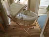 Babies Moses basket and stand