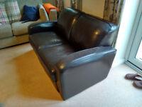 Leather two seats sofa Calia Salotti