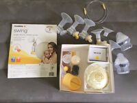 Medela Swing Electric Breast Pump including set of personal breastshields (2x21mm, 2x25mm,30mm)