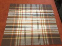 """Lovely Seersucker Tablecloth in Shades of Brown in Excellent Condition- approximately 45"""" x 46"""""""