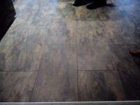 Sicilian slate tile effect laminate flooring x 2 packs for sale 2.05m² each pack b&q