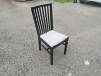 1 IKEA Norrnas Black Chair FREE DELIVERY W204