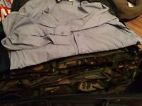 Mixed Army and Royal Air Force old and new clothing, accessories, webbing, helmets JOB LOT