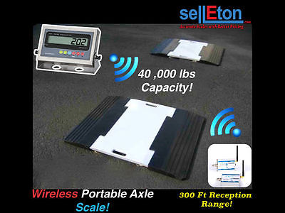 SellETon Wireless portable Weigh pads for truck / car / axle scale 40,000 Cap.
