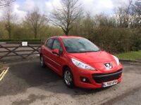 peugeot 207 red 2011
