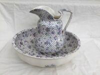 Antique Minton Washbowl and Pitcher Set