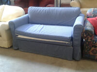 Check patterned sofa bed