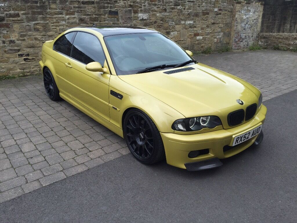 bmw e46 m3 coupe phoenix yellow smg modified in bramley west yorkshire gumtree. Black Bedroom Furniture Sets. Home Design Ideas