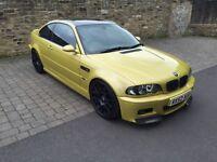 BMW e46 m3 coupe Phoenix yellow SMG modified