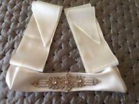 Decorative bridal sash
